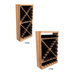 Wine Cellar Innovations - Solid Diamond Cube WineMaker Series in Rustic Pine Unstained - 3 Ft - The Solid Diamond Cube Wine Rack organizes wine bottles in an attractive, popular, and practical style. Assembly Required.