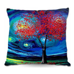 DiaNoche Designs - Pillow Woven Poplin - Story of the Tree Act XLI - Toss this decorative pillow on any bed, sofa or chair, and add personality to your chic and stylish decor. Lay your head against your new art and relax! Made of woven Poly-Poplin.  Includes a cushy supportive pillow insert, zipped inside. Dye Sublimation printing adheres the ink to the material for long life and durability. Double Sided Print, Machine Washable, Product may vary slightly from image.
