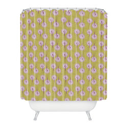 DENY Designs - Caroline Okun Aspergillus Shower Curtain - Artist Caroline Okun's fanciful design might raise eyebrows, but it's all in good fun. This colorful shower curtain is made of machine-washable polyester, so it'll stay looking fresh, shower after shower.