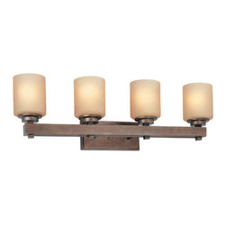 "Dolan Designs - Dolan Designs 3114 Reversible Four Light 31.75"" Wide Bath Wall Sconce S - 4 Light Bathroom FixtureFeatures Harvest GlassRequires 4-100w Medium Base Bulbs (Not Included)Fixture can be mounted up or down"