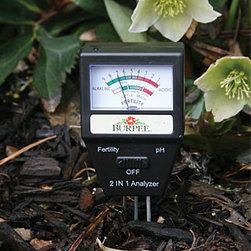 Electronic Soil Tester - Have you ever bought a new plant and put it in the ground only to have it not do so well?  This Electronic Soil Tester will help you by analyzing your soil before you plant.  It measures soil fertility and pH levels, two important factors for growing a thriving, healthy plant.