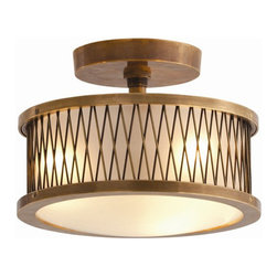 Arteriors Home - Arteriors Home Optic 3L Large Cast Brass/Glass Pendant - Arteriors Home DK46025 - Arteriors Home DK46025 - The Optic Pendant from Arteriors features sophisticated brass and frosted glass details, inspired by spider web dream-catchers. A wonderful statement along kitchen spaces, hallways or entryways.Designer: Laura Kirar