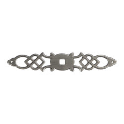 """Hickory Hardware - Manor House Silver Stone Back Plate, 5 1/2"""" - Classic lines, finishes and styles create a warm and comforting feel. Usually 18th-century English, 19th-century neoclassic, French country and British Colonial revival. Use of classic styling and symmetry creates a calm orderly look."""
