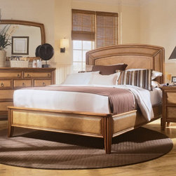 American Drew - Antigua Low Profile Bed - ADL3308 - Shop for Beds from Hayneedle.com! Understated yet sure to impress the Antiqua Low Profile Bed features a large elegantly looming headboard with beautiful woven panels lining the exterior. Woven panels are repeated along all three bed rails for a coordinated effect. Constructed of primavera veneers and select hardwoods this bed has a toasted almond finish giving it a bamboo-like look. You'll love the comfort and ease of sliding into and out of this platform-style bed. It's available in several sizes so you can choose the one that best fits you and your space.DimensionsFull Headboard: 56W x 4D x 48H inchesFull Footboard: 42W x 4D x 18H inchesFull Rails: 76W x 2D x 10H inchesQueen Headboard: 65W x 3D x 60H inchesQueen Footboard: 67W x 4D x 18H inchesQueen Rails: 82W x 2D x 10H inchesKing Headboard: 80W x 3D x 63H inchesKing Footboard: 82W x 4D x 18H inchesKing Rails: 82W x 2D x 10H inchesCalifornia King Headboard: 80W x 3D x 63H inchesCalifornia King Footboard: 82W x 4D x 18H inchesCalifornia King Rails: 82W x 2D x 10H inchesThe Antiqua pieces combine popular materials finishes and hardware to shape and blend them with pieces for today's lifestyles. Antiqua is a collection sure to add a sophisticated coastal or tropical flair to any home. With these unique pieces it's easy to create the perfect setting that suits your needs and your wants.The Antiqua collection is part of American Drew's Profiles furniture line. Subtle style references and approachable scale enable you to reflect a unique sense of personal style while satisfying your desires for comfort convenience and quality. Like a clean canvas Profiles invites an infinite range of accessorization allowing you to add the accessories and personal touches that express who you are sculpting the perfect home for your individual life. Profiles is about furniture that fits your life.About American DrewFounded in 1927 American Drew is a well-established leading manufactur