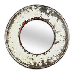 KACA - Mirror made from reclaimed Oil Drums, Round - Unusual Mirror made from recycled Oil Drums - very unique.