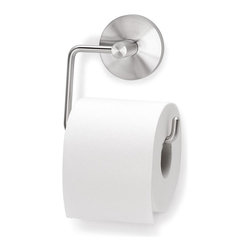 Blomus - Primo Stainless Steel Wall-Mounted Toilet Rol - Mounting kit included. Made of stainless steel, matte finish. 1-Year manufacturer's defect warranty. 5.14 in. L x 7.98 in. W x 5.33 in. H