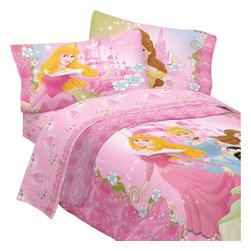 Store51 LLC - Disney Dainty Princesses Twin-Single Comforter Bedding Set - FEATURES: