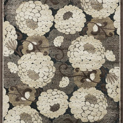 "Loloi Rugs - Loloi Rugs Halton Collection - Black / Beige, 3'-10"" x 5'-7"" - The colors are vivid and the transitional designs are appealing, but what really stands out in Halton is the details. Take a closer look (or zoom in) and you'll notice Halton was expertly designed with subtle shadings and intricate patterns to give it the appearance of a hand-crafted rug. Power loomed in Turkey, the viscose surface is raised against a chenille base, giving Halton an element of dimension and texture that adds character and enhances perceived value. Also, the viscose surface has an irresistible shimmer, which further adds to its sophisticated appearance."