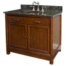 "30"" Modena Vanity Cabinet with Hammered Copper Basin 