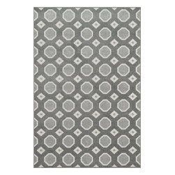 Loloi Rugs - Loloi Rugs Oasis Grey-Ivory Contemporary Indoor / Outdoor Rug X-A5B3VIYG20-SOISA - Boldly designed and brightly colored, our Oasis Collection transforms any outdoor space into a modern patio paradise.This collection is power loomed in Egypt, ensuring precision in color and design for each and every piece. And because the 100% polypropylene yarns are specially tested to withstand UV rays and rain, it's the perfect all-weather rug.