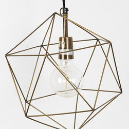 Magical Thinking Geo Pendant - I love this fixture. It would make a great entryway light.