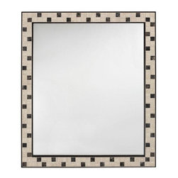 Home Decorators Collection - Argonne Mirror - The Argonne Mirror features a beautiful mosaic of marble tiles that are sure to add a sophisticated touch to your home. Add it to your bath, kitchen, or entryway for a clean, transitional look you're sure to love. Order yours today! Wood cleat on back provides easy hanging. Glass is non-beveled.