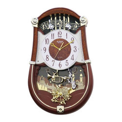 """Rhythm Clocks - 19.3"""" x 11.8"""" Concerto Entertainer Musical - At the top of each hour, the MAGIC Begins!"""