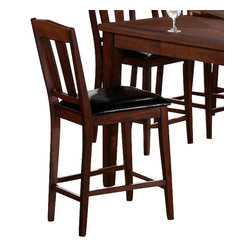 Canterbury Home Furnishing - Canterbury Brentwood Counter Height Chair in Brown Oak (Set of 2) - Clean lines and undeniable style - the main theses of Brentwood collection. Canterbury Brentwood Counter Height chair reflects a design suitable for any kitchen, to any requirement. Indulge yourself in the pleasure to use high-grade furniture, created from high quality materials, embodied in perfect shape.