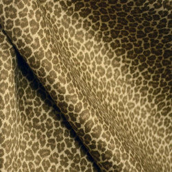 Cub Tan Brown Cotton Animal Print Drapery Fabric By The Yard - Cub in the color Tan is a great drapery weight animal print fabric.  Cotton based this print can also be used in bedding and pillow projects.