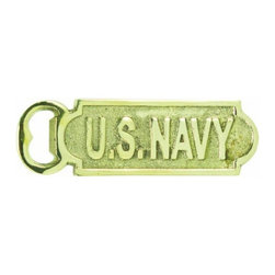 Handcrafted Nautical Decor - Solid Brass US Navy Bottle Opener 5'' - This Solid Brass US Navy Bottle Opener  5'' is the perfect addition to any nautical    themed  kitchen. This  solid brass bottle opener will open even the most     difficult of  bottles with ease. This bottle opener is fully  functional   and a great  gift for the true nautical enthusiast in your  life. ------    Decorative bottle opener is also mountable--    --    Solid brass adds elegance--    Perfect for the true nautical enthusiast--