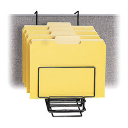 "Safco - Safco Panel Mate Waterfall Sorter (Set of 6) - Safco - Desk Organizers - 4156CH - This wall hanger waterfall file sorter gets file folders off work surfaces while keeping them within easy reach. Grandstand design provides easy identification and removal of files. Removable dividers form up to 6 slots in 1-1/8"" intervals. Strong welded steel construction in a continuous loop design with epoxy finish. Universal mounting system included. Packed 6 per carton."