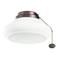 "Kichler Lighting - Kichler Lighting 380116OBB 10"" Schoolhouse Ceiling Fan Light Kit - Kichler Lighting 380116OBB 10"" Schoolhouse Ceiling Fan Light Kit"