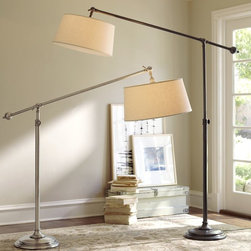 Chelsea Sectional Floor Lamp - Brighten a spacious seating area with this handsome lamp.