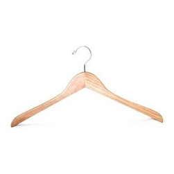 Proman Products - Genesis Flat Coat Hanger in Natural Lacquer F - Set of 50. Chrome hardware