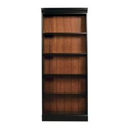 Riverside Furniture - Bridgeport Bookcase with 5 Shelves - Three adjustable shelves.