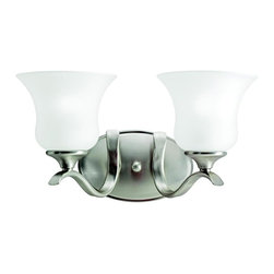 Kichler Lighting - Kichler Lighting - 5285NI - Wedgeport - Two Light Bath Fixture - The Wedgeport(TM) Collection, in a Brushed Nickel finish with Satin-etched glass, brings a graceful elegance to your home.