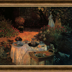 Amanti Art - Luncheon in the Garden Framed Print by Claude Monet - Claude Monet spent the last years of his life painting in Giverny, a beautiful countryside village, located about forty five miles from Paris. His gardens became the endless focus of his work.