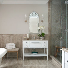 Traditional Bathroom by Leona Mozes Photography