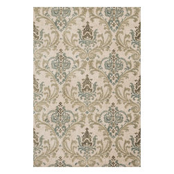 """Loloi Rugs - Loloi Rugs Avanti Collection - Sage/Mist, 3'-6"""" x 5'-6"""" - Power loomed in China, Avanti presents a collection of vintage-inspired rugs with an incredibly soft microfiber surface. The intentionally distressed patterns create a weathered look that simultaneously implies heritage and modernity. Made of 100% polyester, each rug will retain its sharp and vibrant colors for years to come."""