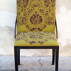 Casa Midy Ixelles Chair - Super fun print on these chairs will really liven up any dining room. Pairing with a traditional dining room table would be really fun.
