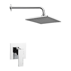 Nameeks - Nameeks | Mario Shower Set SS1223 - Made in Italy. A part of Remer by Nameek's.Simple to use and aesthetically appealing, the Mario Shower Set SS1223 is an ideal pick for any contemporary bathrooms. It comes complete with a square shower head and shower arm with flange. Featuring brass and ABS construction and chrome finish, this shower set serves its purpose for years to come. Its pressure balance with ceramic cartridge give the user complete control over the water temperature and on/off functionality. Product Features: