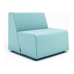 Turnstone - Steelcase - Campfire Half Lounge Aqua - Size matters—especially when it comes to fire codes.