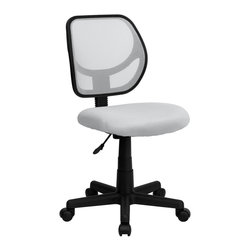 Flash Furniture - Flash Furniture Office Chairs Mesh Task Chairs X-GG-THW-4703-AW - This ventilated mesh computer chair will give you the comfort you desire throughout the day. If you are looking for a sleek, functional chair for your work or home office, a mesh office chair may be right for you. Chair features a breathable mesh back with a comfortably padded mesh seat that easily adjusts. [WA-3074-WHT-GG]