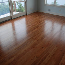 Wild Black Cherry Wood Flooring - Wild Black Cherry Has More Figure and Mineral Streaking than Standard Cherry:  This is a wild southern variety, not as dark as Brazilian Cherry, and is a gorgeous complement to heart pine. Its rich color spectrum ranges from lustrous pinks to rich red brown.