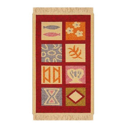 Reversible Authentic Kilim Rug / Size 3x4 - Rug of Ages Collection (Four Season) - Brand: Rugs of Ages