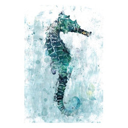 Scattered Seahorse Artwork - 24 x 36 Scattered Seahorse