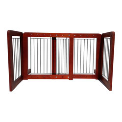 Wood Freestanding Adjustable Pet Gate