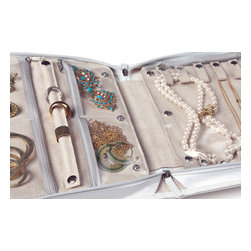 Clos-ette Too - Signature Jewelry Case - White - Our genius shelf dividers allow you to organize your shelves in seconds. Simple and sleek in design, they slide easily onto any standard-size shelf and secure into place with a built-in clip. Ideal for separating folded clothing into neat stacks, corralling handbags and clutches, and creating cubbies for your large, bulky items. It's the ultimate closet accessory.