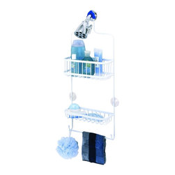 """Zenith - Zenith 7617WW 26"""" Metal Over the Shower Head Caddy in White - Zenith 7617WW 26"""" Metal Over the Shower Head Caddy in WhiteOrganize your shower instantly with this easy to install rust-resistant showerhead caddy. Provides storage for bottles,  shower puffs, washcloths & more. Slip-proof collar and suction cups are included to secure caddy.Zenith 7617WW 26"""" Metal Over the Shower Head Caddy in White, Features:&#149 Hangs conveniently from showerhead"""