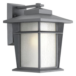 "Progress Lighting - Progress Lighting P6041-136Wb One-Light Wall Lantern W/Bulb (9"") Etched Seeded G - One-light medium wall lantern with bulb"