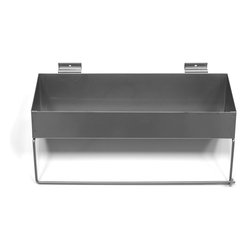 None - Proslat Paper Towel Holder/Shelf,Silver - Proslat Paper Towel Holder/Solid Shelf.  The perfect place to keep your paper towels,cleaning supplies and spray bottles.  Made from high grade,heavy duty powdercoated steel in Proslat silver.