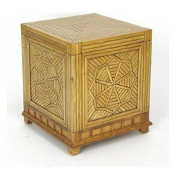 Wayborn - Bamboo Lift Up Top Storage Cube - Storage trunk with lift up top. Bamboo on Oakwood. Textured finish with raised wood parts. 18 in. L x 18 in. W x 20 in. H (44 lbs.)