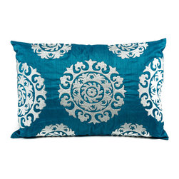 Suzani Pillows - Silk Suzani (turquoise)