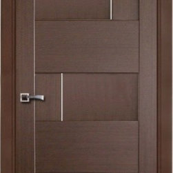 Dominika Contemporary Interior Door Wenge Finish - * Price listed includes door slab,adjusted frame and moldings ** ( hardware seperate )