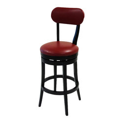 Armen Living - Armen Living Roxy 26 Inch Red Bicast Leather Swivel Barstool - Armen Living - Bar Stools - LC4022BARE26 - The incomparably chic look of the Roxy Swivel Barstool in red bicast leather is sure to elevate the design element in your home. Nailhead accents on the outside back add virulent value to sophisticated style. Assembly required.