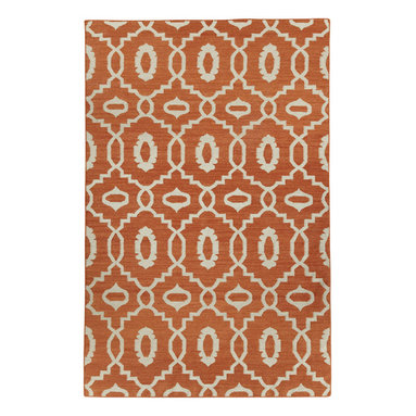 """Moor rug in Saffron - """"I must've lived many past lives in the middle east as it's one of the most inspiring places on earth to me.  The curves and intersections of pattern are dizzying and romantic.  Every season needs a lattice pattern, this is ours for Spring."""" - Genevieve Gorder"""