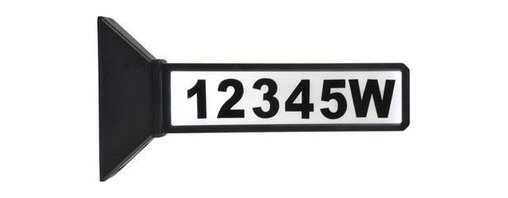 Coleman Cable - Two Sided Address Sign - 8MOONRAYS-- Address Sign, Versatile 2-sided address sign helps visitors find your home both day and night. Use with filigree for more traditional style, or without more sleek contemporary look. 2 bright white LEDs per address sign, 1 AA NIMH 600 mAh battery included. Durable black plastic construction. Mounts horizontally or vertically to post with included screws, or vertically into ground with included ground stake. 1 solar address light per color box.