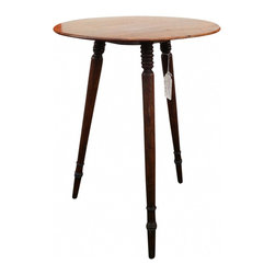 """Small 3-Legged Round Table - Small, vintage 3-legged round table.  Nice patina.  Diameter is 15"""" and height is 20.5""""."""