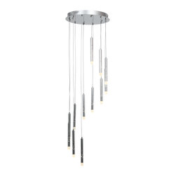 Joshua Marshal - Acrylic Rain 12 Light Multi Light Pendant - Acrylic Rain 12 Light Multi Light Pendant
