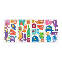 RoomMates Peel & Stick - Monsters Wall Decals - Grr! Growl! Grrrr! These monsters are a lot more silly than they are scary. Colorful and comical, these Wall Decals are sure to add some life and humor to any room. Great for boys and girls alike, and easy to remove or reposition if tastes change or a move is necessary. Kids will love these creative stickers!